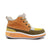 Women's KO-Z CHUKKA Wedge desert boot orange yellow sheepskin suede boot lateral side