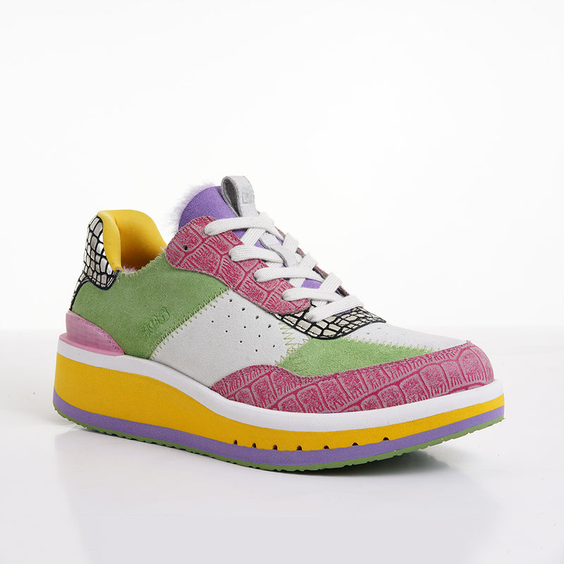 Women's KO-Z Sport Low Wedge / Green Tea - Chalk Violet