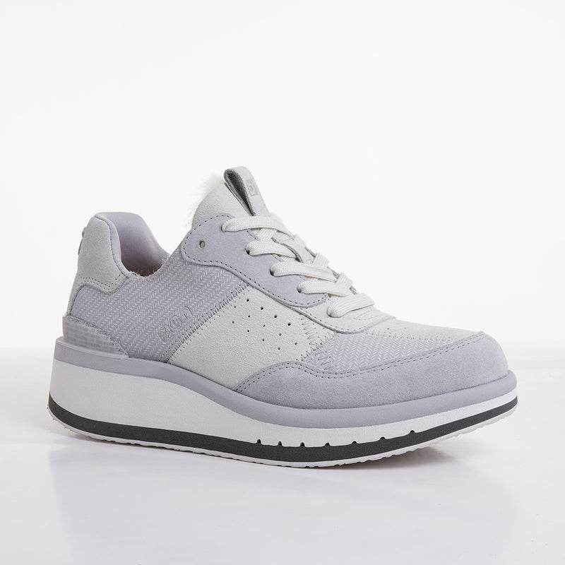 Women's KO-Z Sport Low Wedge / Light Grey - Snow White