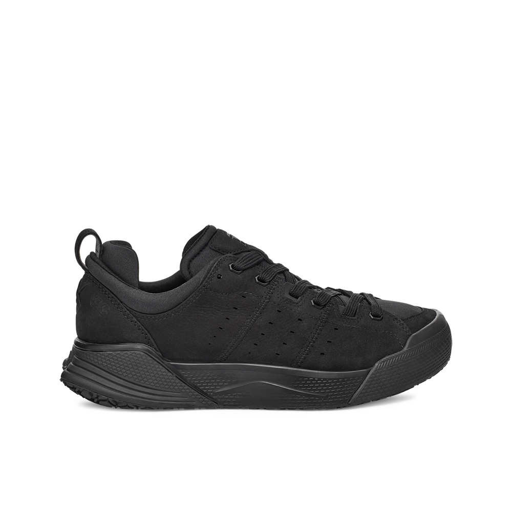 Women's X-SCAPE NBK Low black suede, wool and lycra cushioned walking sneaker lateral veiw