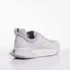Women's X-SCAPE NBK Low white suede lycra and wool walking sneaker rear lateral view