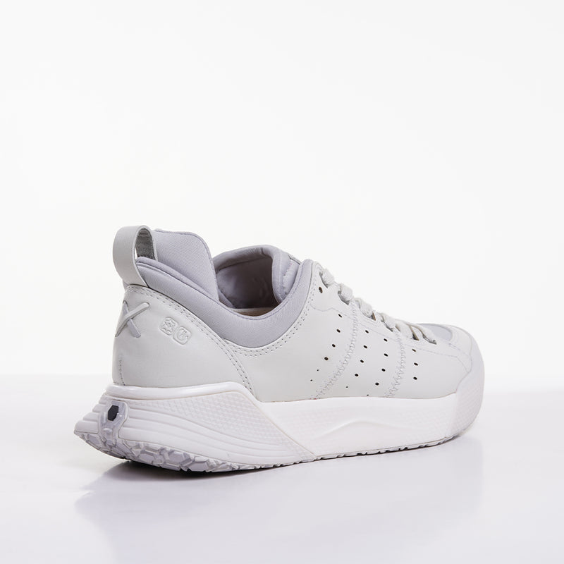 Women's X-SCAPE NBK Low white suede lycra and wool walking sneaker lateral view