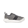 Women's X-SCAPE Sport Low breathable perforated suede, adjusting fit foam and hydrophobic Matryx, cushioned walking sneaker grey black and white lateral view