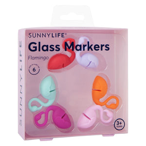 SUNNYLIFE Flamingo Glass Markers