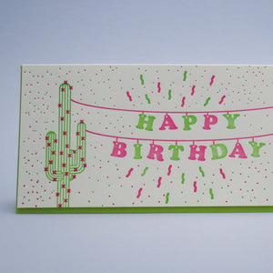 PRICKLY PEAR PAPER Cactus Banner Birthday