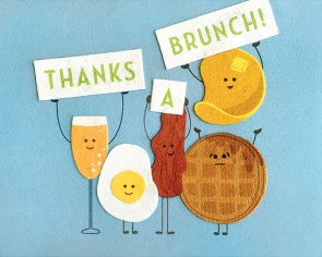 "GOOD PAPER Card Thank you ""thanks a brunch"""