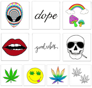 INKED by Dani Temporary Tattoos Good Vibes Pack