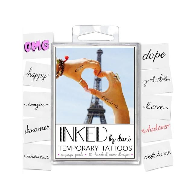 INKED by Dani Temporary Tattoos Sayings Pack
