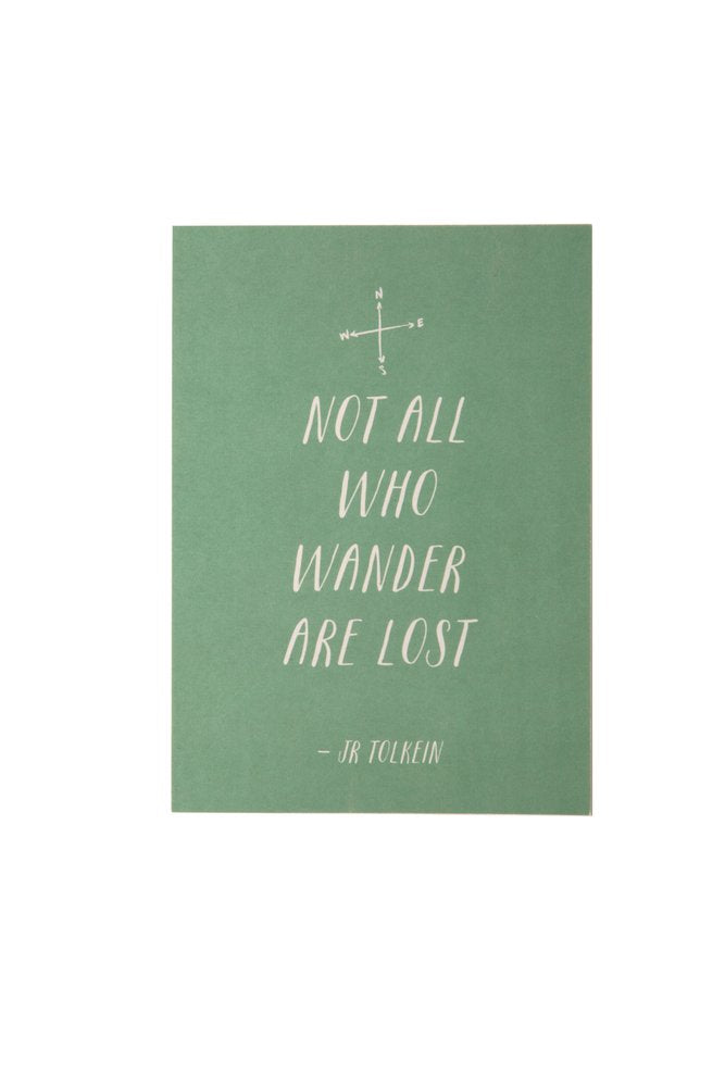 HE SAID SHE SAID 5x7 Art Print Not All Who Wander Are Lost