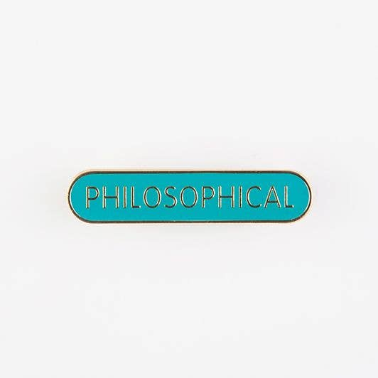 THE SCHOOL OF LIFE Philosophical Pin Badge
