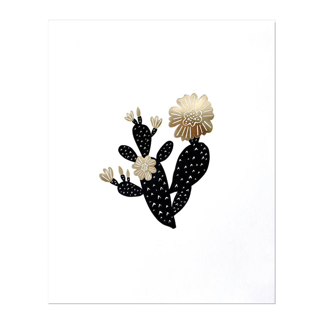 ODD DAUGHTER Art Print Prickly Pear Cactus