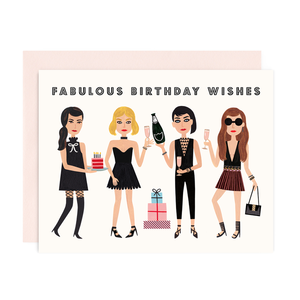 GIRL WITH KNIFE Card Fabulous Birthday Wishes