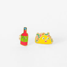 Load image into Gallery viewer, YELLOW OWL WORKSHOP Bottled Earrings Taco & Hot Sauce
