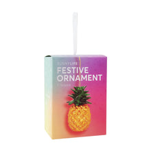 Load image into Gallery viewer, SUNNYLIFE Festive Ornament Pineapple