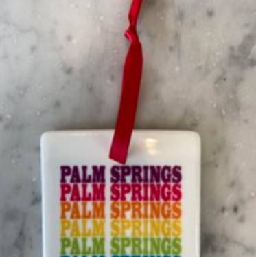 ROCK SCISSOR PAPER Palm Springs Ornament