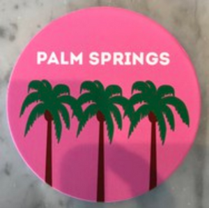 ROCK SCISSOR PAPER Palm Springs Pink Coaster