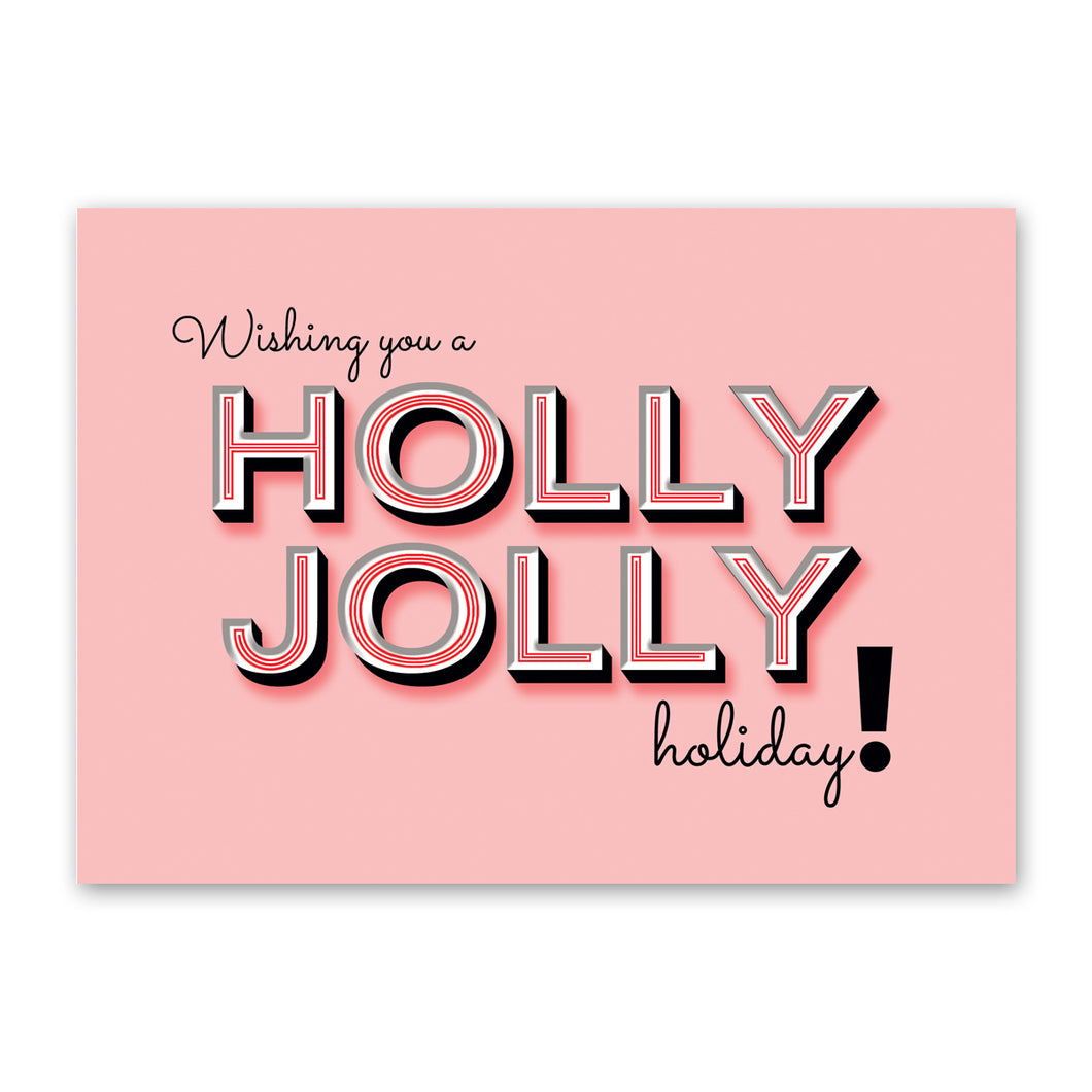 ROCK SCISSOR PAPER Holly Jolly Card