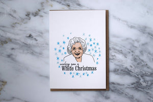 HE SAID SHE SAID Betty White Holiday Card