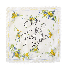 "Load image into Gallery viewer, BOLDFACED GOODS Handkerchief ""For Fuck's Sake"""