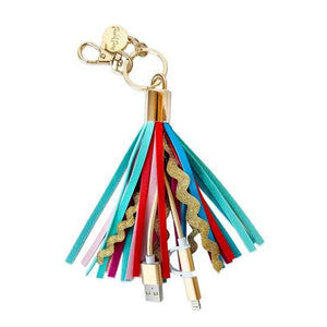 PACKED PARTY Tassel Charging Keychain