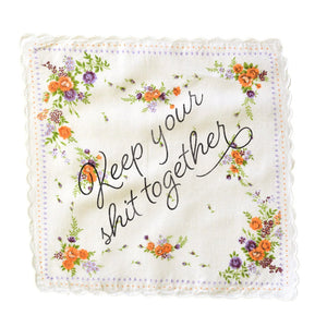 "BOLDFACED GOODS Handkerchief ""Keep Your Shit Together"""