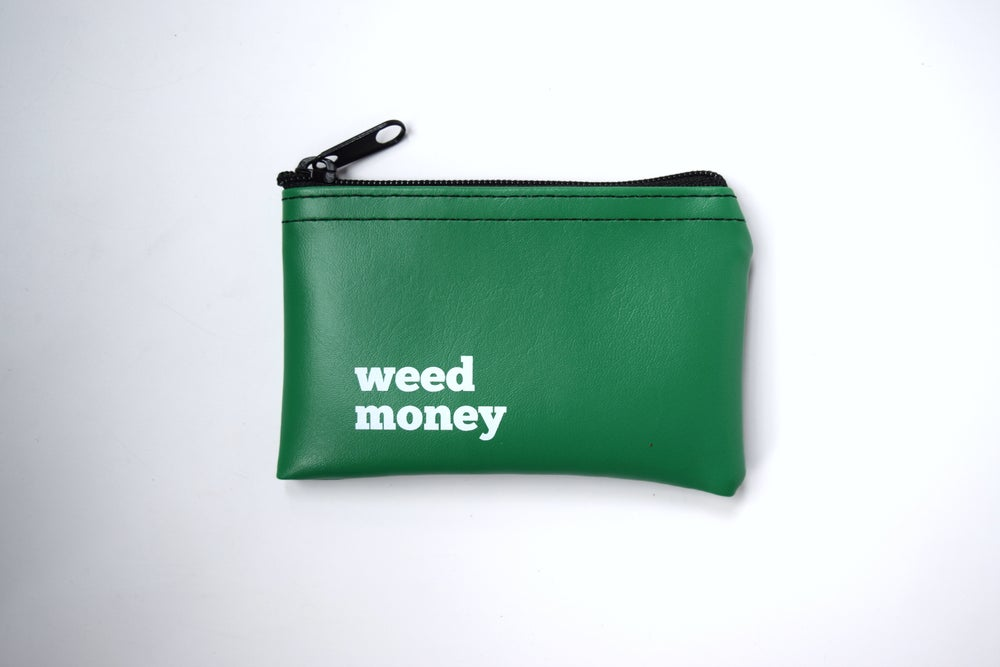 HE SAID SHE SAID Black & White Coin Pouch Weed Money