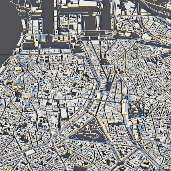 Antwerp City Map - Luis Dilger