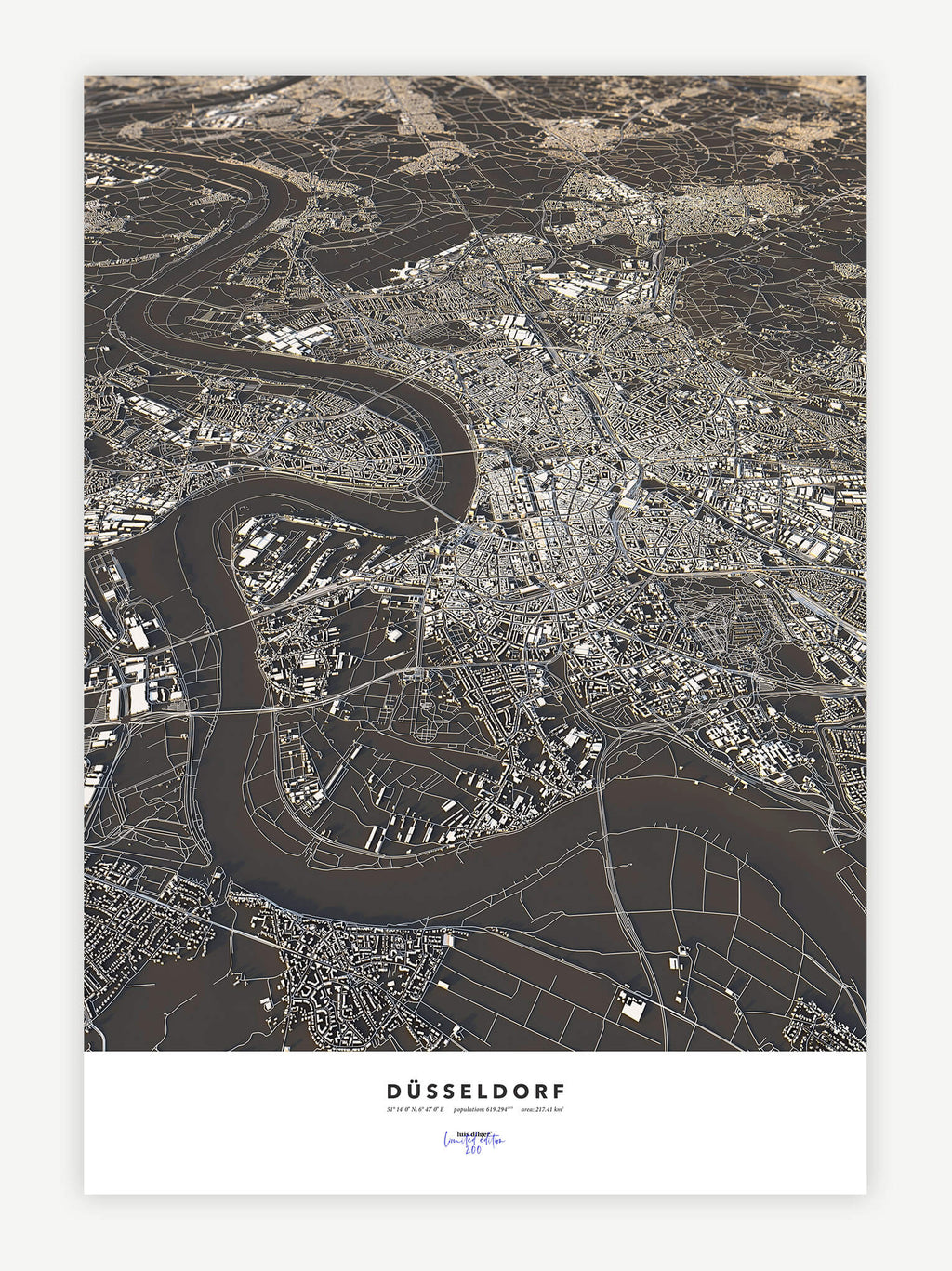 Düsseldorf City Map