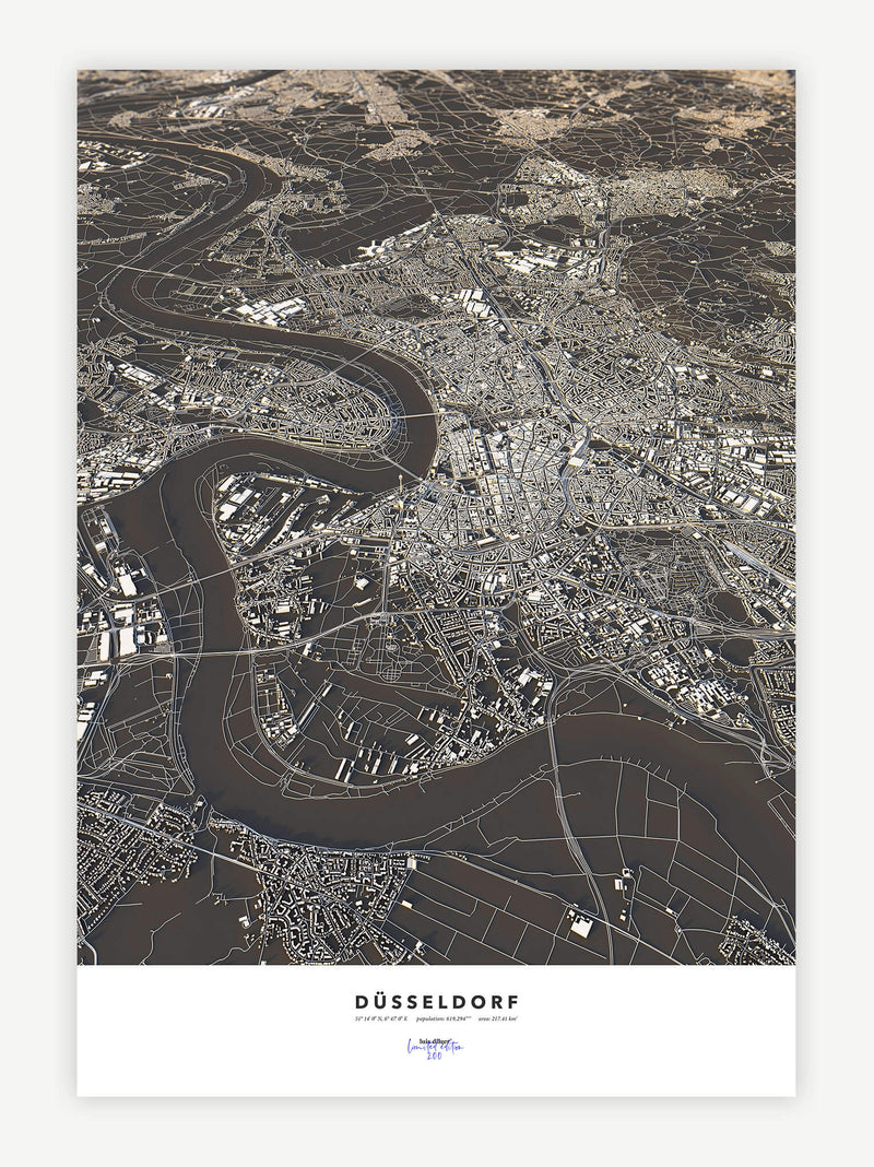 Düsseldorf City Map - Luis Dilger