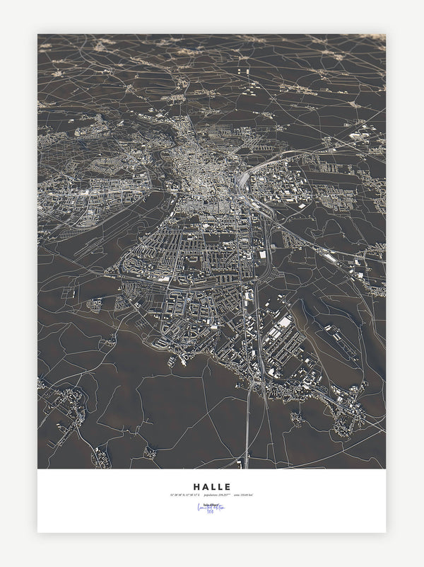 Halle City Map - Luis Dilger