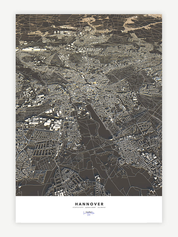 Hannover City Map - Luis Dilger