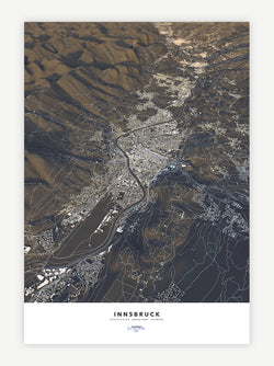 Innsbruck City Map - Luis Dilger