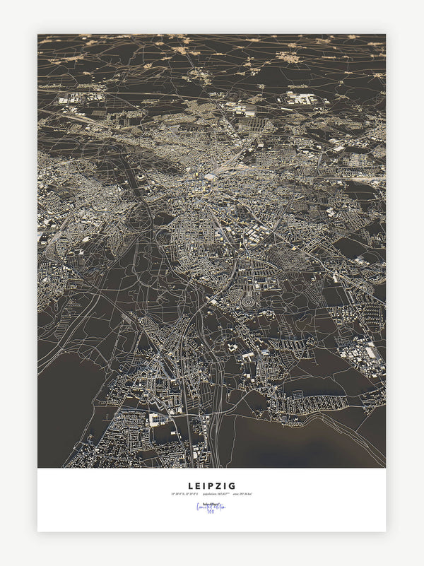 Leipzig City Map - Luis Dilger