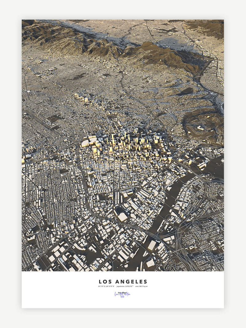 Los Angeles City Map - Luis Dilger