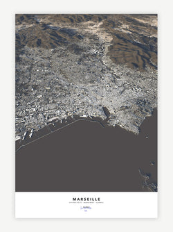 Marseille City Map - Luis Dilger