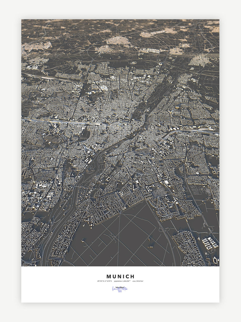 Munich City Map - Luis Dilger