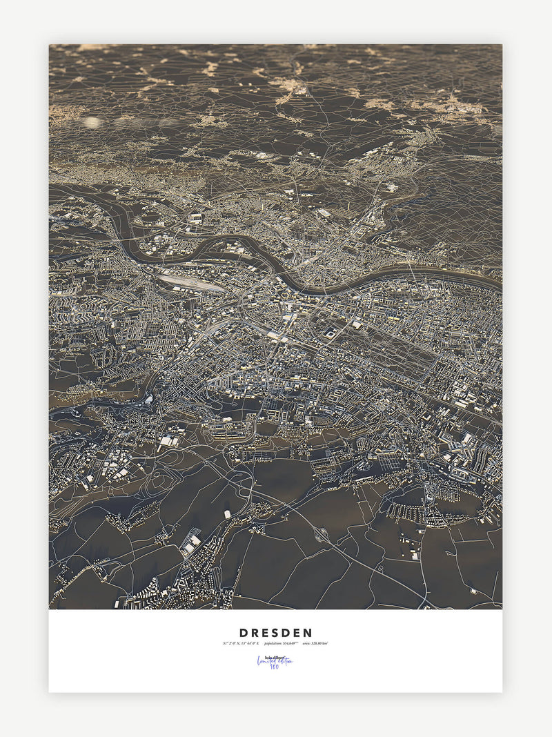Dresden City Map - Luis Dilger
