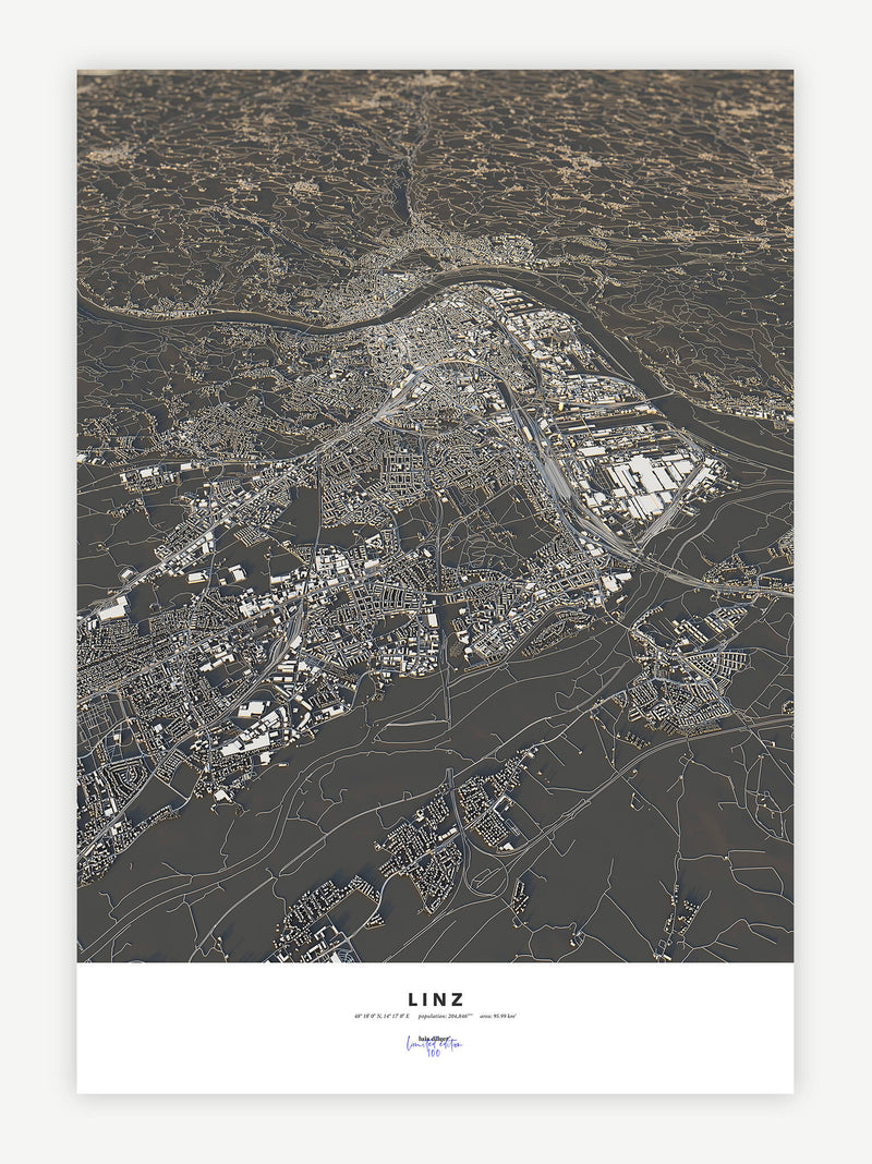 Linz City Map - Luis Dilger
