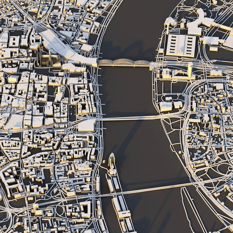 Köln City Map - Luis Dilger