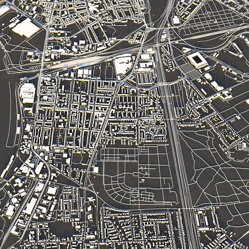 Duisburg City Map