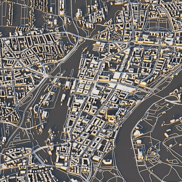Magdeburg City Map - Luis Dilger