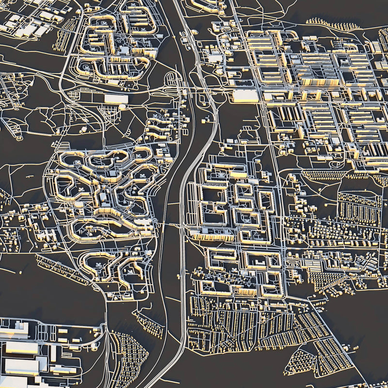 Rostock City Map - Luis Dilger
