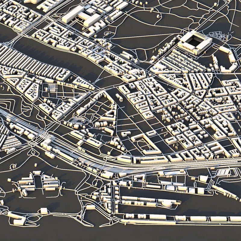 Copenhagen City Map - Luis Dilger