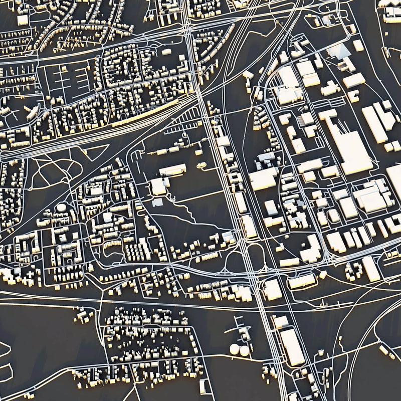 Münster City Map - Luis Dilger