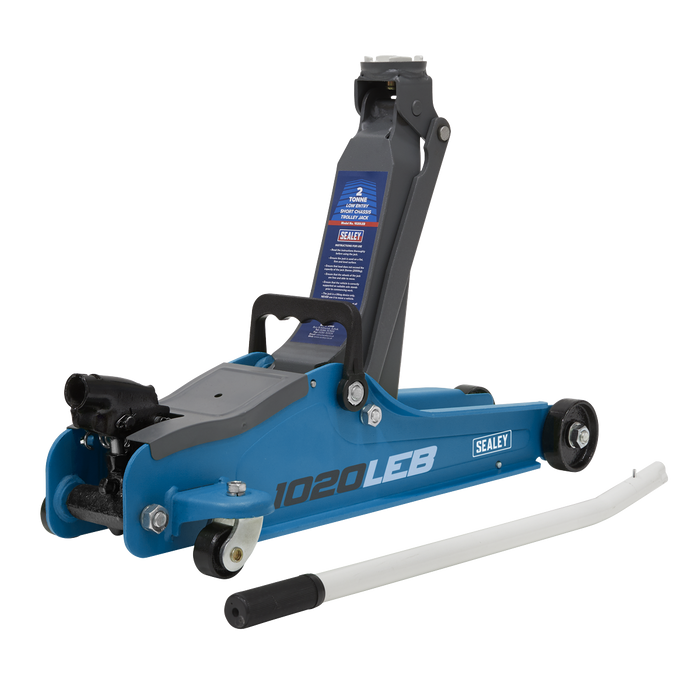 Sealey - 1020LEB Trolley Jack 2tonne Low Entry Short Chassis - Blue