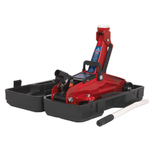 Sealey - 1050CXD Trolley Jack 2tonne Short Chassis with Storage Case