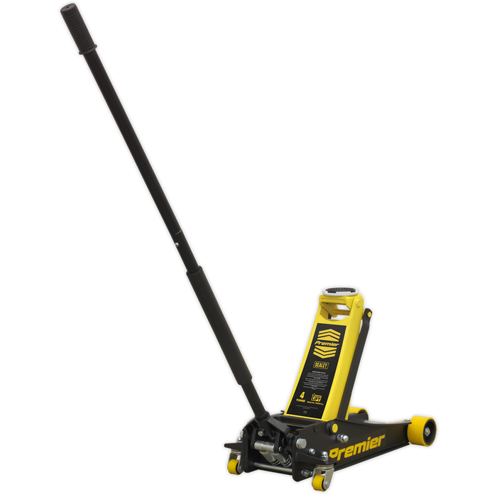 Sealey - 4040AY Trolley Jack 4tonne Rocket Lift Yellow