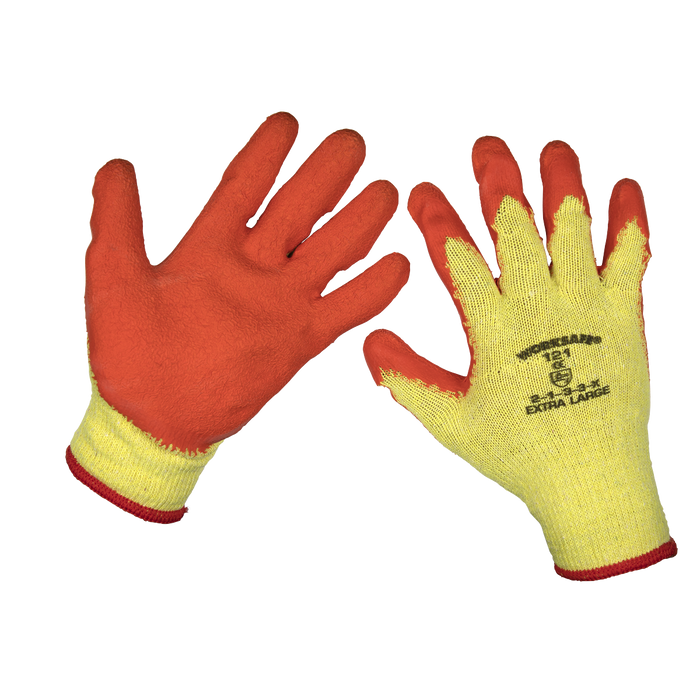 Sealey - 9121XL/B120 Super Grip Knitted Gloves Latex Palm (X-Large) - Pack of 120 Pairs