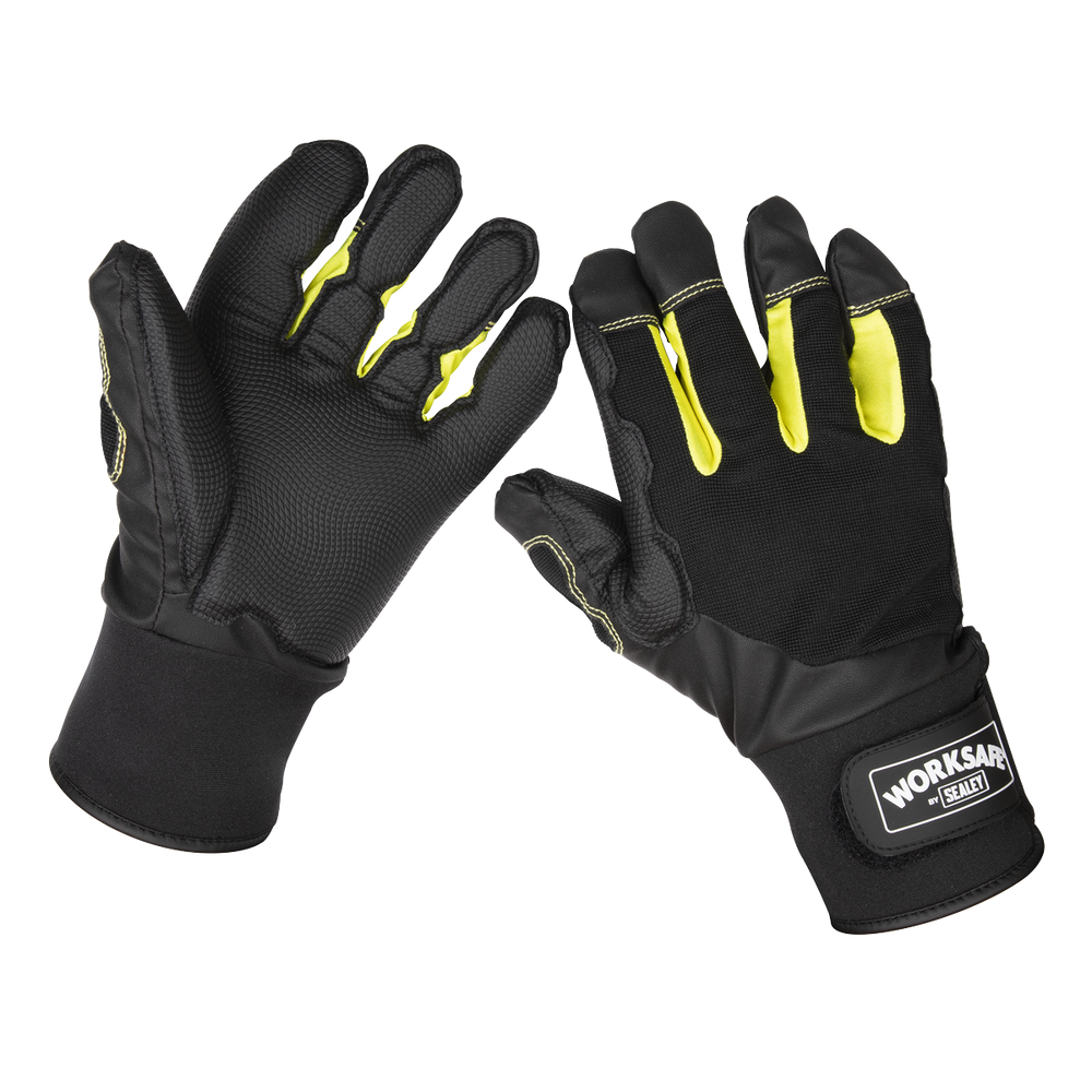 Sealey - 9142L Anti-Vibration Gloves Large - Pair