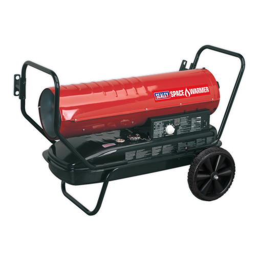 Sealey - AB1008 Space Warmer® Paraffin/Kerosene/Diesel Heater 100,000Btu/hr with Wheels